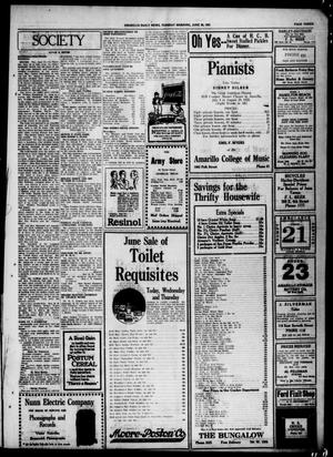 Primary view of object titled 'Amarillo Daily News (Amarillo, Tex.), Ed. 1 Tuesday, June 28, 1921'.