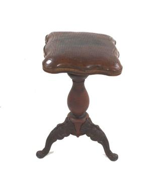 Primary view of object titled 'Piano stool'.