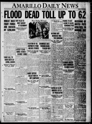 Primary view of object titled 'Amarillo Daily News (Amarillo, Tex.), Vol. 13, No. 93, Ed. 1 Thursday, April 27, 1922'.
