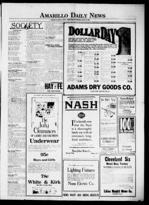 Primary view of object titled 'Amarillo Daily News (Amarillo, Tex.), Ed. 1 Wednesday, July 12, 1922'.