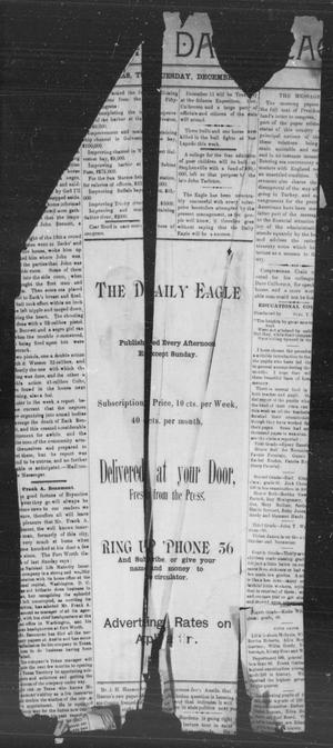 Primary view of object titled 'The Bryan Daily Eagle. (Bryan, Tex.), Ed. 1 Wednesday, December 4, 1895'.