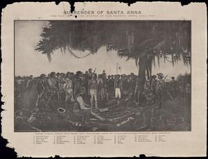 Primary view of object titled 'Surrender of Santa Anna:  The Day After the Battle of San Jacinto, April 22nd, 1836'.