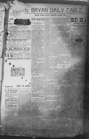 Primary view of object titled 'The Bryan Daily Eagle. (Bryan, Tex.), Vol. 1, No. 78, Ed. 1 Sunday, March 1, 1896'.