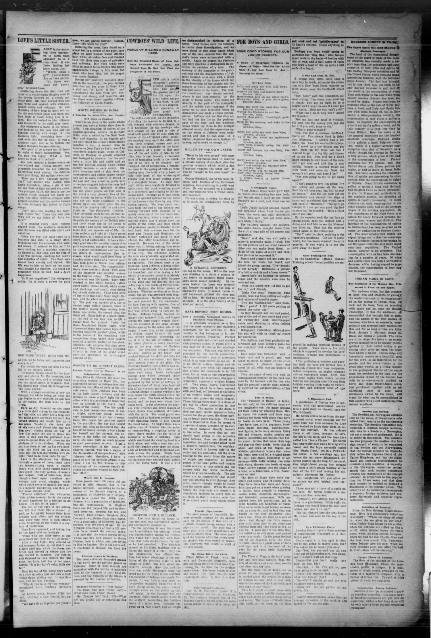 The Bryan Daily Eagle. (Bryan, Tex.), Vol. 3, No. 120, Ed. 1 Wednesday, April 20, 1898                                                                                                      [Sequence #]: 3 of 4