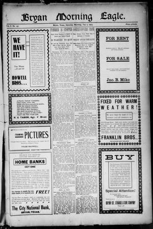 Primary view of Bryan Morning Eagle. (Bryan, Tex.), Vol. 8, No. 131, Ed. 1 Saturday, May 9, 1903