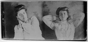 Primary view of object titled '[Ella Falls and Nora Johnson]'.