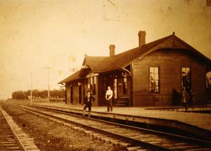Primary view of object titled 'Irving Train Depot'.