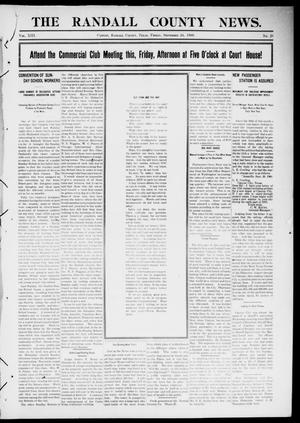 Primary view of object titled 'The Randall County News. (Canyon City, Tex.), Vol. 13, No. 26, Ed. 1 Friday, September 24, 1909'.