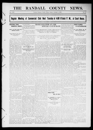 Primary view of object titled 'The Randall County News. (Canyon City, Tex.), Vol. 13, No. 27, Ed. 1 Friday, October 1, 1909'.
