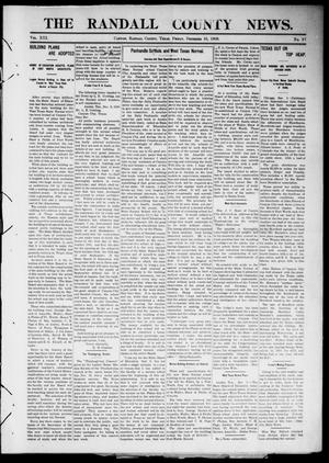 Primary view of object titled 'The Randall County News. (Canyon City, Tex.), Vol. 13, No. 37, Ed. 1 Friday, December 10, 1909'.