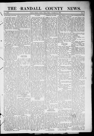 Primary view of object titled 'The Randall County News. (Canyon City, Tex.), Vol. 13, No. 39, Ed. 1 Friday, December 24, 1909'.
