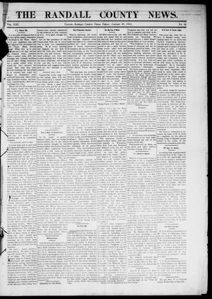 Primary view of object titled 'The Randall County News. (Canyon City, Tex.), Vol. 13, No. 44, Ed. 1 Friday, January 28, 1910'.