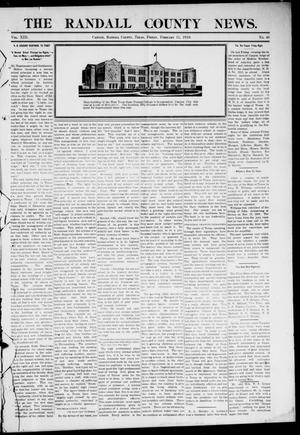 Primary view of object titled 'The Randall County News. (Canyon City, Tex.), Vol. 13, No. 46, Ed. 1 Friday, February 11, 1910'.