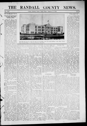 Primary view of object titled 'The Randall County News. (Canyon City, Tex.), Vol. 13, No. 47, Ed. 1 Friday, February 18, 1910'.