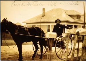 Primary view of object titled 'Earl Steele Delivering the Mail'.