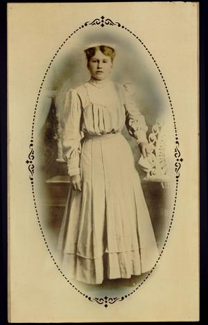 Primary view of object titled 'Print of unidentified woman, standing'.
