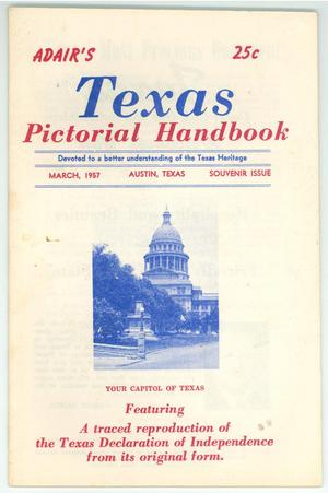 "Primary view of object titled '""Adair's Texas Pictorial Handbook""'."