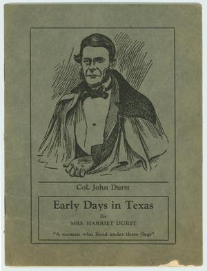 "Primary view of object titled '""Early Days In Texas""'."
