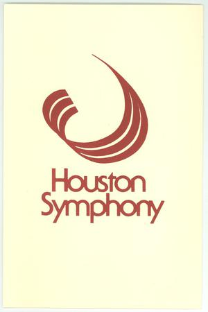 Primary view of object titled 'Program for Houston Symphony concert'.