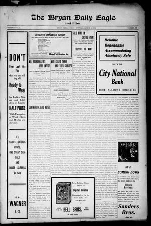 The Bryan Daily Eagle and Pilot (Bryan, Tex.), Vol. FIFTEENTH YEAR, No. 213, Ed. 1 Friday, August 12, 1910