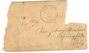 Primary view of object titled '[Envelope addressed to Johnson Moorhead of Springfield, CO]'.