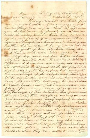 Primary view of object titled '[Letter from Maria B. Smith to her sister, Rosanna Grimes]'.
