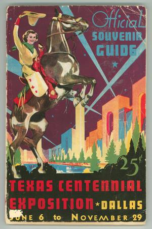 "Primary view of object titled '""Official Souvenir Guide, Texas Centennial Exposition""'."