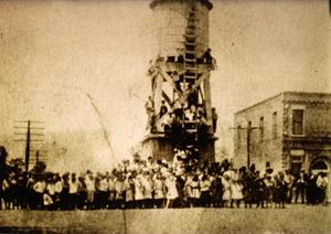 Primary view of object titled 'Irving Student Body at the Water Tower'.