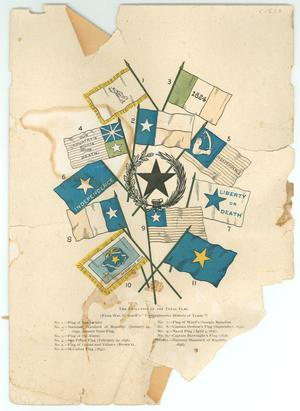 "Primary view of object titled '""Texas, Her Flags""'."