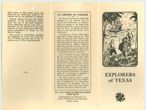 Primary view of object titled 'Explorers of Texas'.