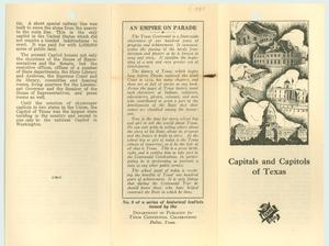 Primary view of object titled 'Capitals and Capitols of Texas'.