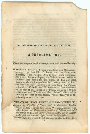"Primary view of object titled '""Treaty of Peace, Friendship and Commerce""'."