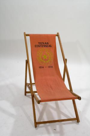 Primary view of object titled 'Folding chair'.