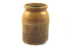 Primary view of object titled 'Meyer pottery canning jar'.