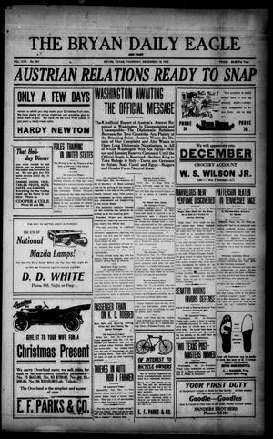 Primary view of object titled 'The Bryan Daily Eagle and Pilot (Bryan, Tex.), Vol. 30, No. 301, Ed. 1 Thursday, December 16, 1915'.