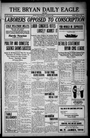 Primary view of The Bryan Daily Eagle and Pilot (Bryan, Tex.), Vol. 30, No. 337, Ed. 1 Thursday, January 27, 1916