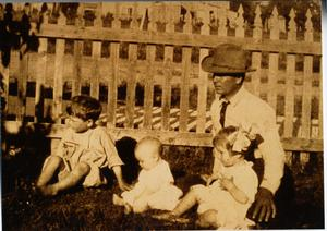 Primary view of object titled 'W. D. Lucas with Children'.
