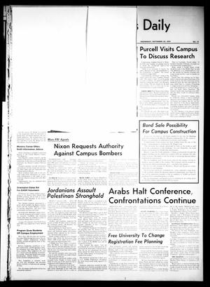 Primary view of object titled 'The North Texas Daily (Denton, Tex.), Vol. [54], No. 13, Ed. 1 Wednesday, September 23, 1970'.