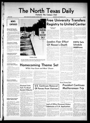 Primary view of object titled 'The North Texas Daily (Denton, Tex.), Vol. 54, No. 16, Ed. 1 Wednesday, September 30, 1970'.