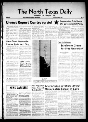 Primary view of object titled 'The North Texas Daily (Denton, Tex.), Vol. 54, No. 19, Ed. 1 Friday, October 2, 1970'.