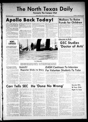 Primary view of object titled 'The North Texas Daily (Denton, Tex.), Vol. 54, No. 68, Ed. 1 Tuesday, February 9, 1971'.