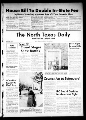 Primary view of object titled 'The North Texas Daily (Denton, Tex.), Vol. 54, No. 81, Ed. 1 Thursday, March 4, 1971'.