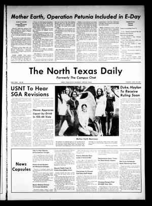 Primary view of object titled 'The North Texas Daily (Denton, Tex.), Vol. 54, No. 98, Ed. 1 Tuesday, April 20, 1971'.