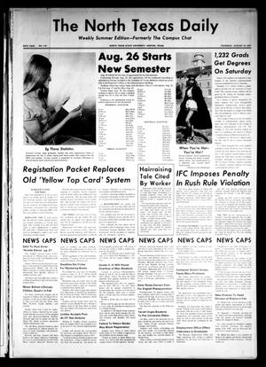 Primary view of object titled 'The North Texas Daily (Denton, Tex.), Vol. 54, No. 116, Ed. 1 Thursday, August 12, 1971'.