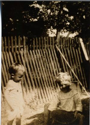 Primary view of object titled 'Charles Schulze, Jr., and John Brown as Children'.