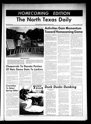 Primary view of object titled 'The North Texas Daily (Denton, Tex.), Vol. 55, No. 35, Ed. 1 Friday, October 29, 1971'.