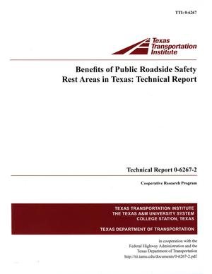 Primary view of object titled 'Benefits of Public Roadside Safety Rest Areas in Texas :  technical report'.