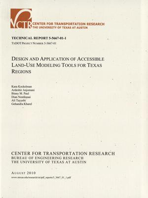 Primary view of object titled 'Design and application of accessible land-use modeling tools for Texas regions'.