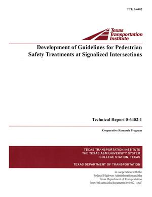 Primary view of object titled 'Development of guidelines for pedestrian safety treatments at signalized intersections'.