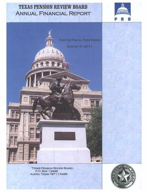 Primary view of object titled 'Texas Pension Review Board Annual Financial Report: 2011'.